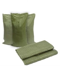 Мешок зеленый полипропиленовый 50*90см - фото 5373