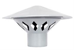 Зонт РР-Н вентиляционный серый ДН 110 б/нап - фото 5551