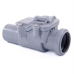 Клапан серый РР-Н обратный канализационный ДН 50 - фото 5561
