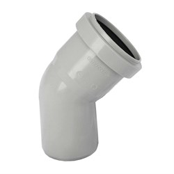 Отвод РР-Н с раструбом серый ДН 50*45г б/нап в/к - фото 5572