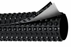 Профилированная мембрана плантер Грунтфлекс Дренаж (Gruntflex Drenaj) с геотекстилем, 2х20м - фото 5653