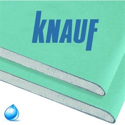 Гипсокартонный лист (ГКЛ) KNAUF ГСП-Н2 влагостойкий 2500х1200х12.5мм - фото 5677