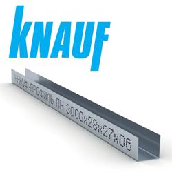 Профиль направляющий Кнауф (Knauf) ПН 3000х27х28х0,6мм - фото 5697